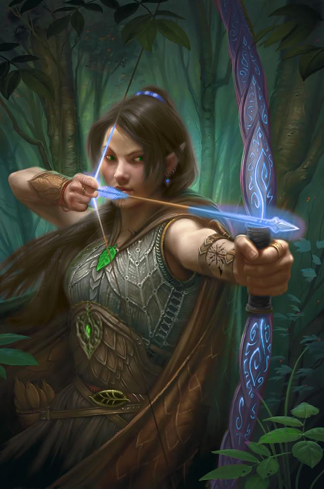 """Résultat de recherche d'images pour """"elfe brune yeux vert guerrière arc"""""""