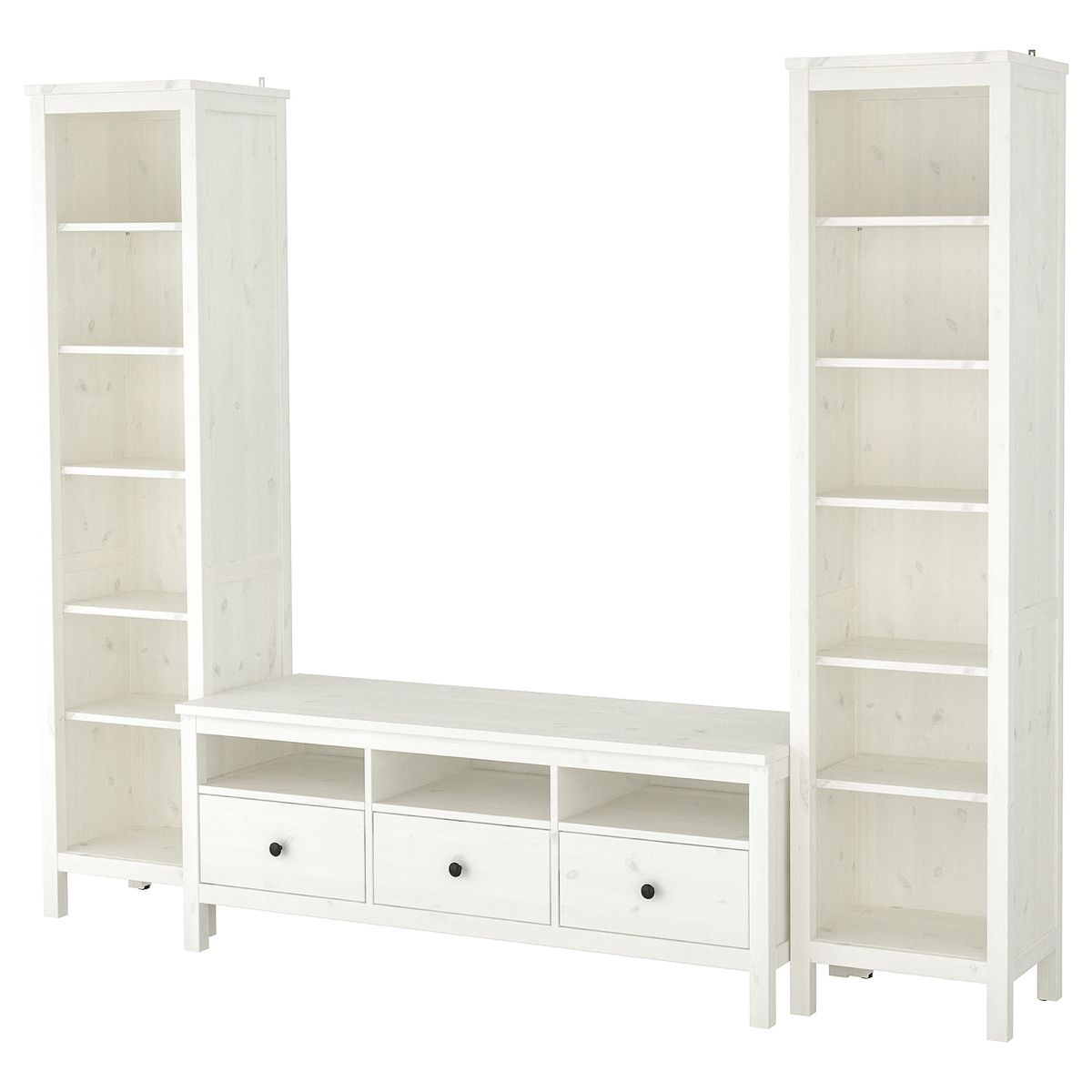 Mensole Per Tv Ikea.Hemnes Tv Storage Combination White Stain Arredamento Casa