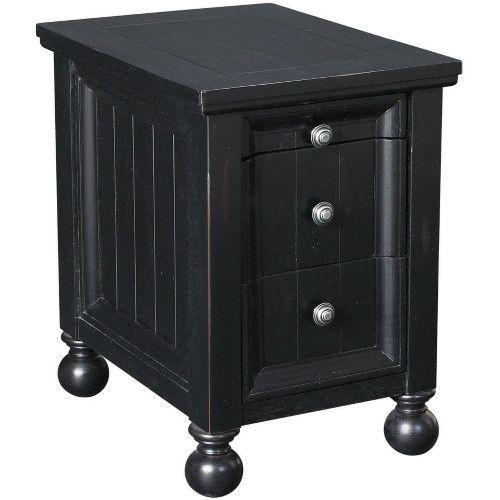 Hammary Hidden Treasures T73474-22 Chairside Table - Black