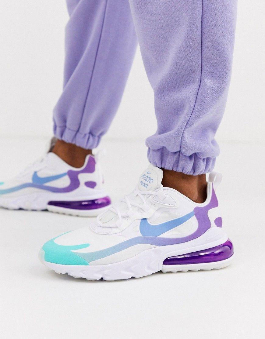 Nike Blue And Purple Air Max 270 React