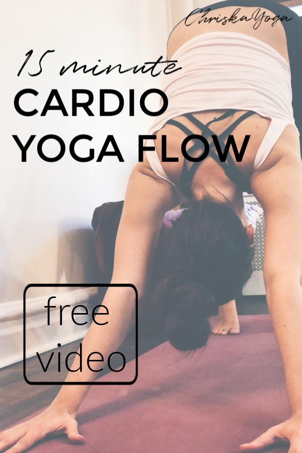 15 Minute Cardio Yoga Flow #cardioyoga