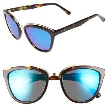 a97af62342d DIFF Rose 55mm Polarized Mirrored Sunglasses