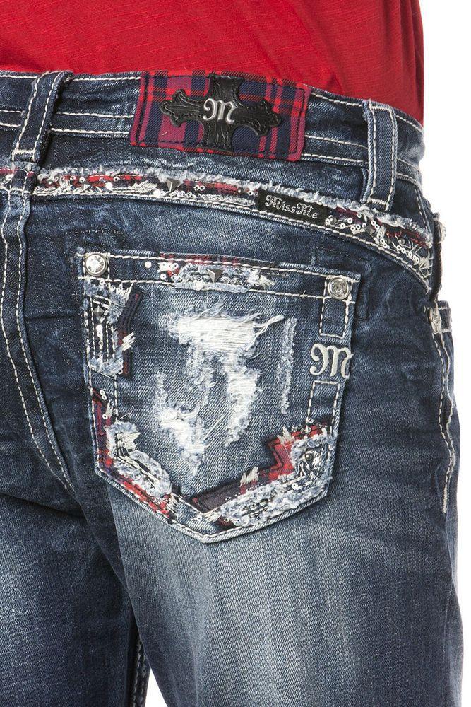 884a8cdccdb Miss Me Size 27 Cut Loose Boyfriend Jeans JB8482A NWT  109.50 fits up to  Size 29  MissMe  Boyfriend