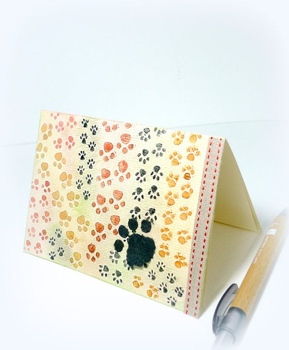 Muddy Paws Dog Card New Puppy Dog lover Pet sympathy by McRtyCards