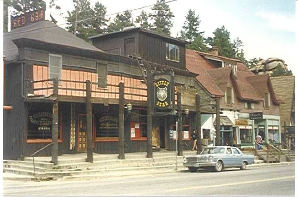 The Round Up Little Bear And Original Evergreen Hotel Main Street Co Colorado Vintage Image S Pinterest
