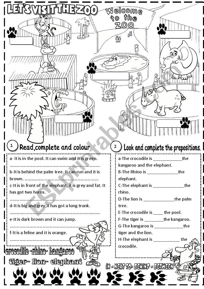 Here You Ll Find Animals And Prepositions Of Place It Is Editable Vocabulary Worksheets Zoo Animals Prepositions [ 1169 x 826 Pixel ]