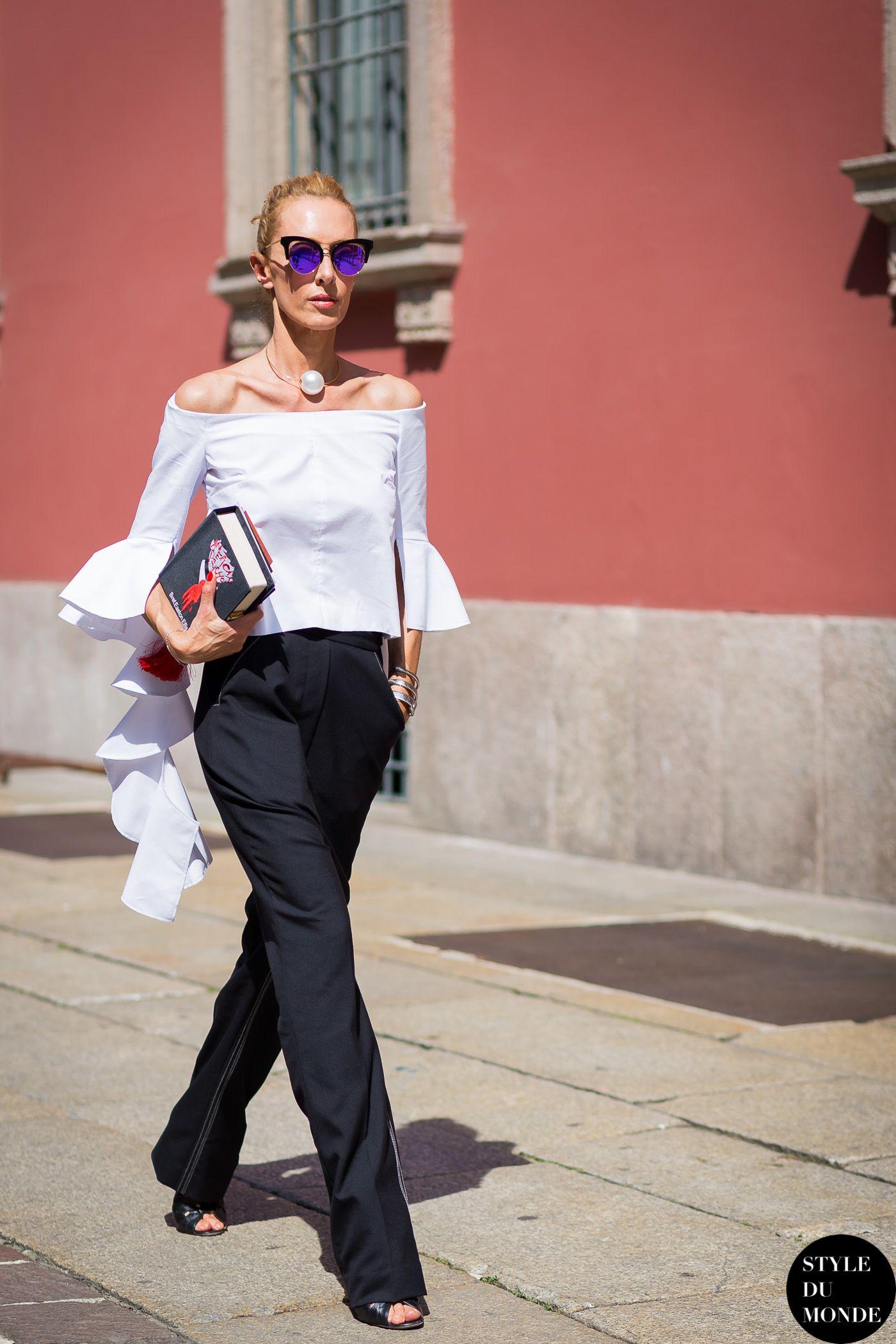 Milan Men\'s SS16 Street Style: Elina Halimi   Pinterest   Cascadas ...