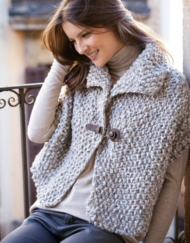 modele tricot gilet poncho