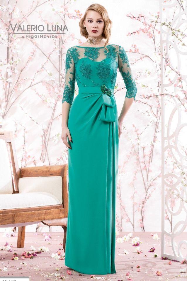 vestido de madrina largo modelo 4501 valerio lunahigar novias