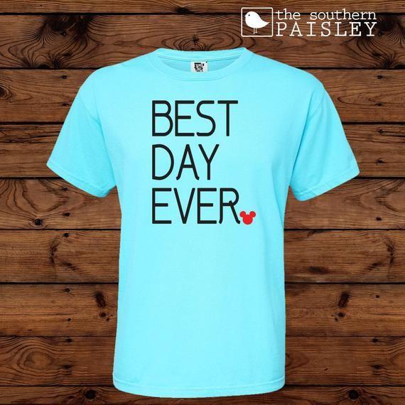Disney Best Day Ever Disney Comfort Colors Short Sleeve T Shirt