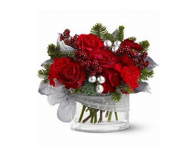 Vánoce-flower-uspořádání Vector