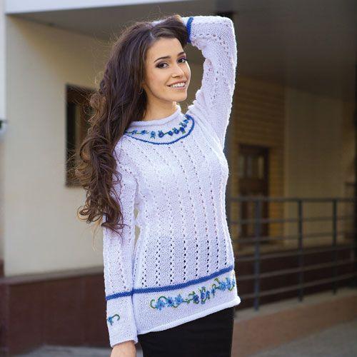 Вязание для женщин с вышивкой