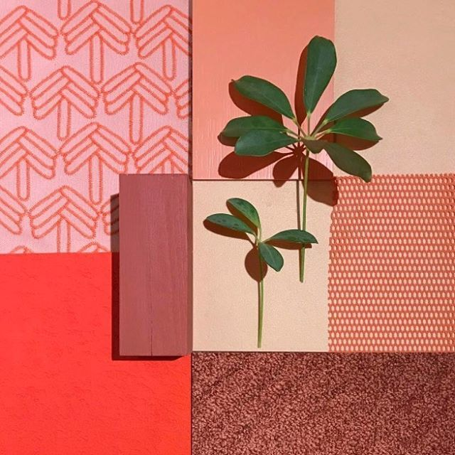Powder pink wool and ruby red hues. The warm colour palette of the Design Bar at @sthlmfurnfair this year, created by the talented @notedesignstudio. Visit during SFF 7-11 February.