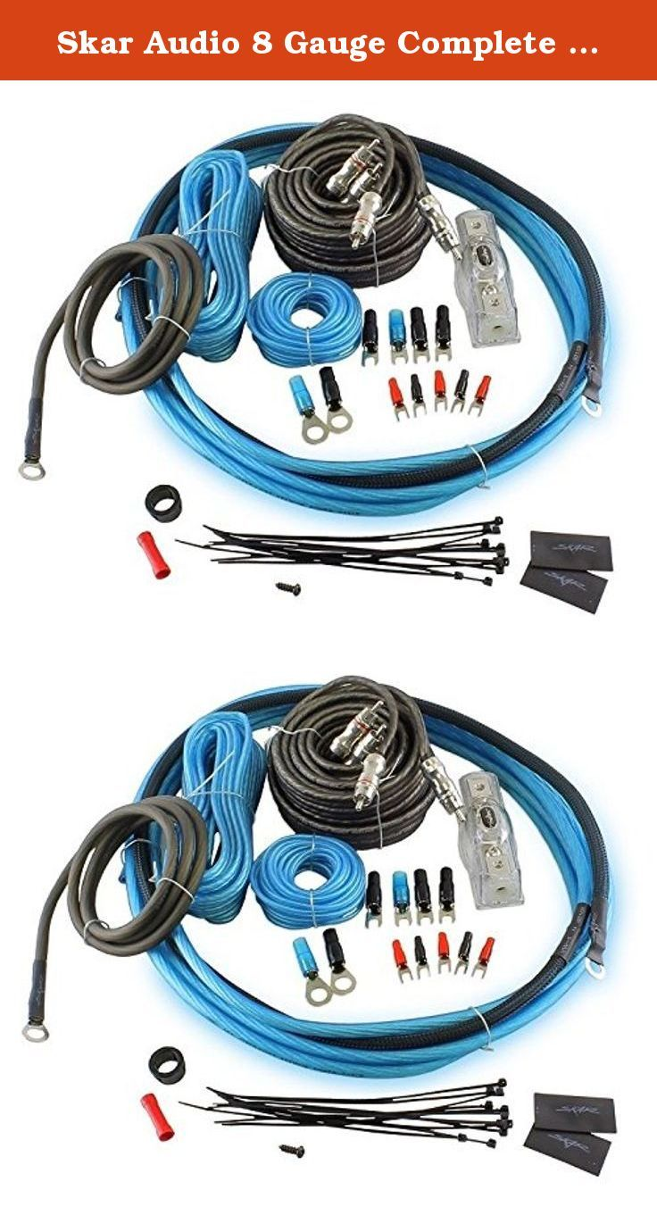 Skar Audio 8 Gauge Complete Car Amplifier Wiring Install Kit Oxygen Installation Kits Free Copper With