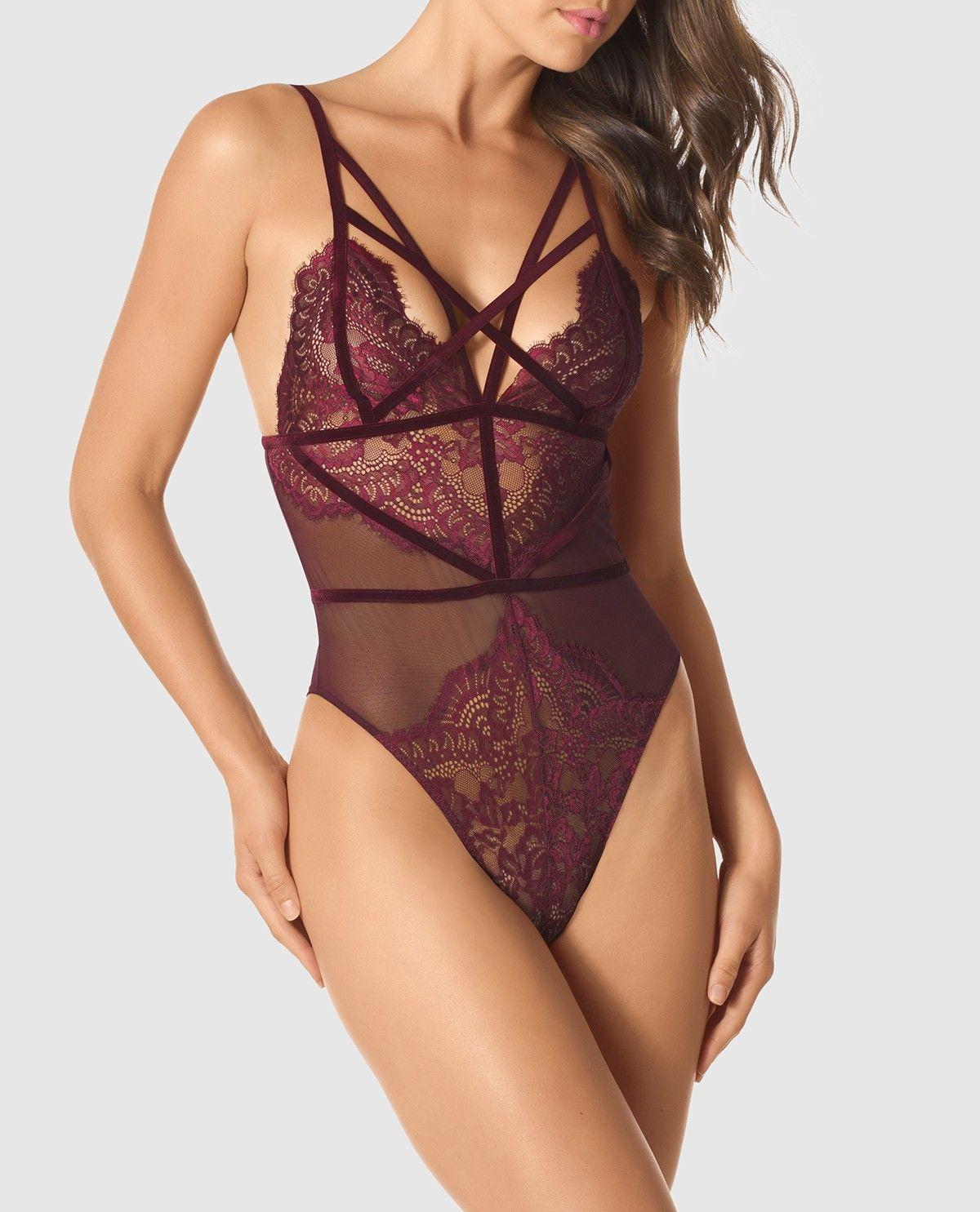 d37b9c724c Strappy Lace Bodysuit - New - La Senza Lingerie