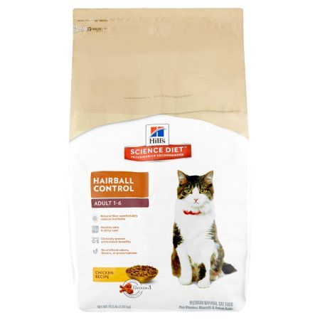 hill s science diet adult hairball control chicken recipe dry cat food 15 5 lb bag