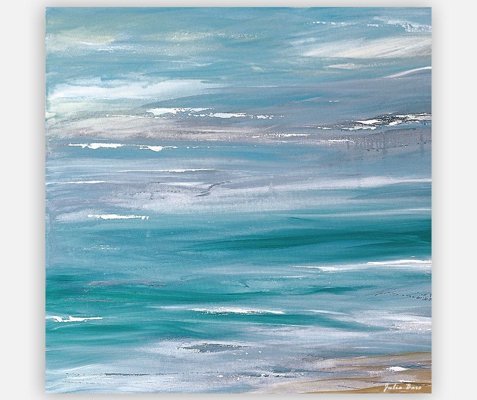 Abstract Coastal Giclee Print Seascape Painting Blue Gray