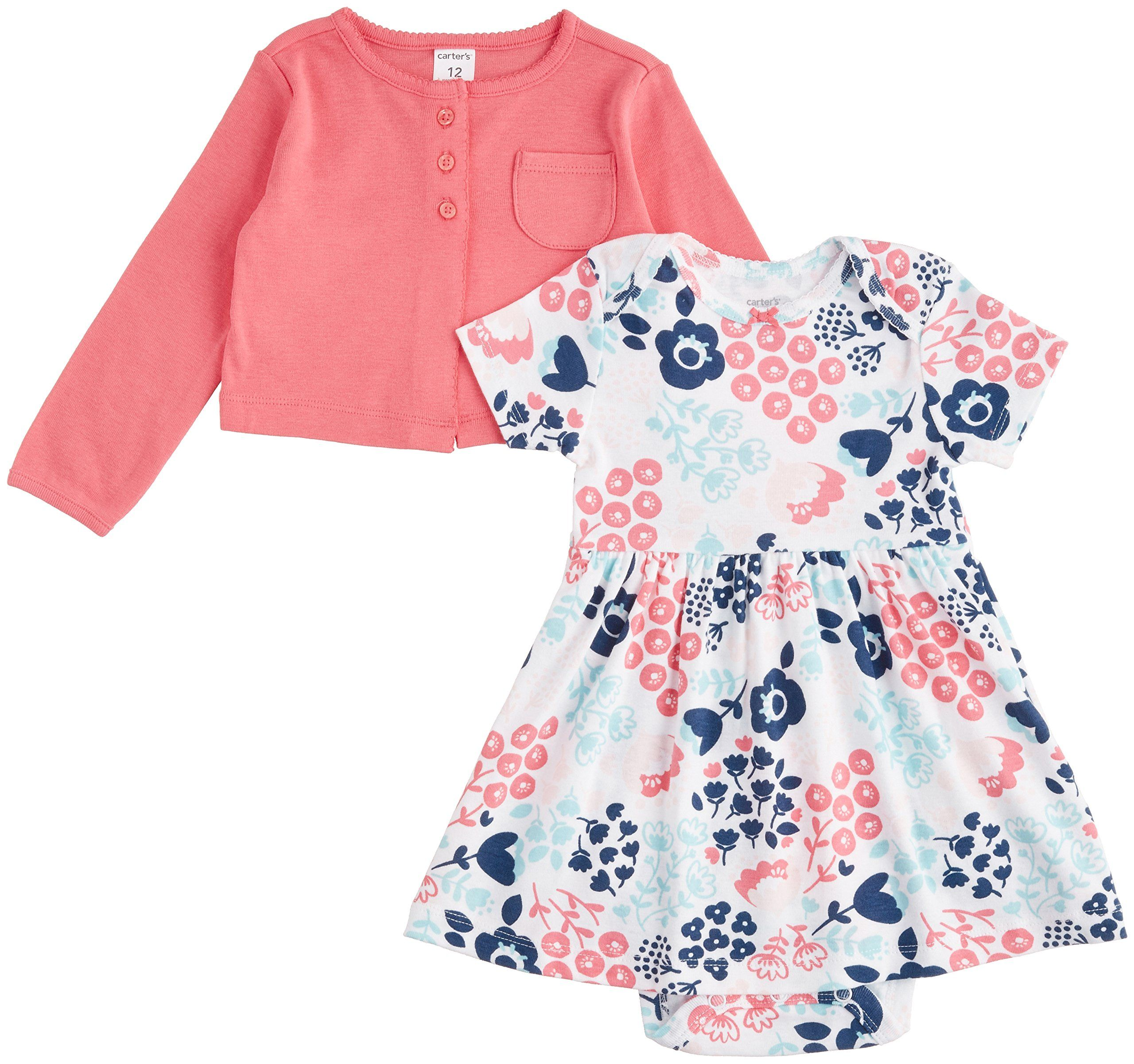 Amazon Carter s Baby Girls 2 Piece Dress Set Baby Clothing