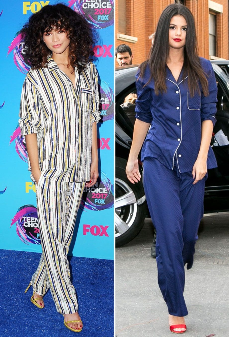 Celebrities have been spotted wearing pajamas as street ...