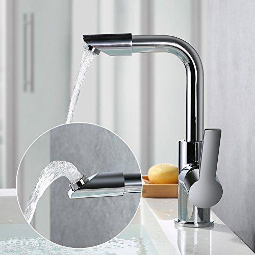 Niederdruck Küchenarmatur Wasserhahn Designer chrom verchromt Küche schwenkbar