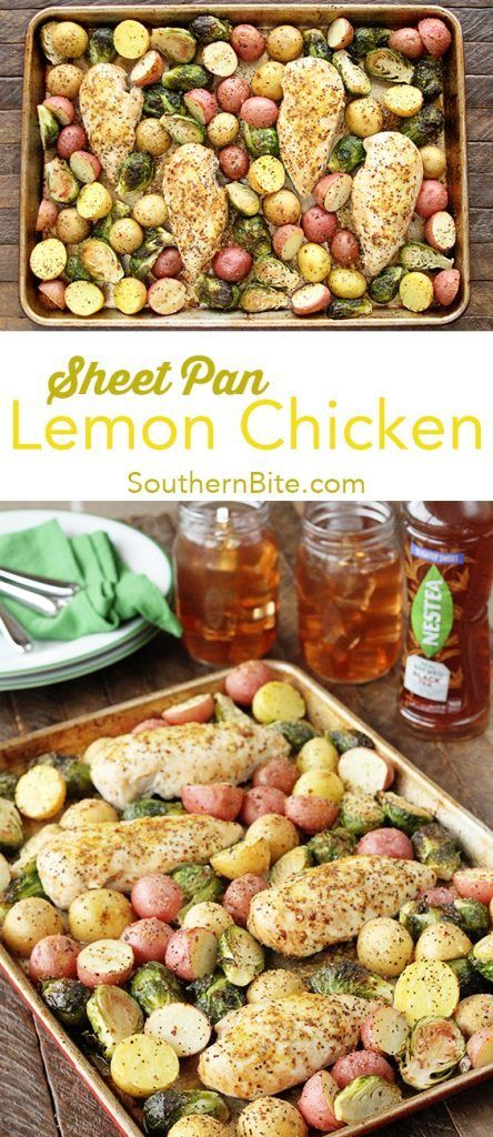 Sheet Pan Lemon Chicken Recipe Food recipes, Lemon
