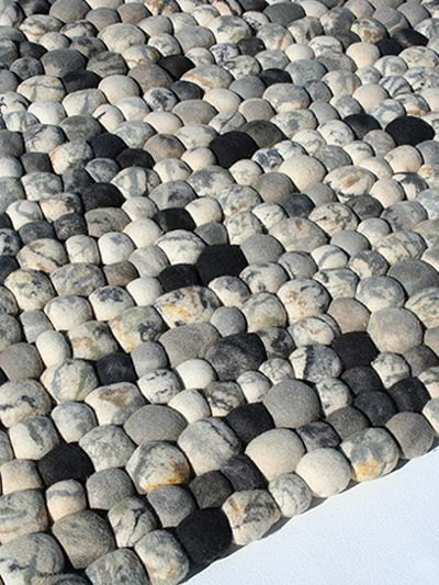 Faux Pebble Rug Made Of Wool Amazing Ideas