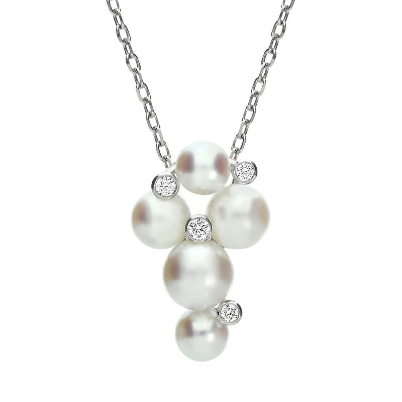 170aa29b3d7af Mikimoto 18ct White Gold Diamond Pearl Bubble Necklace #mikimoto ...