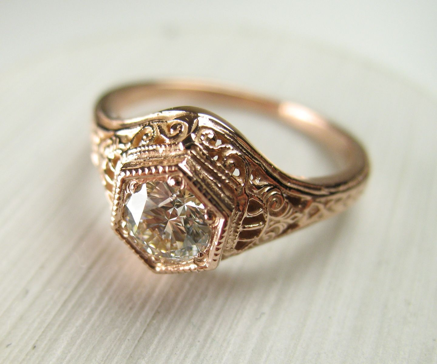 s victorian of tone engraved two wedding rings antique band products blossom mens men gold copy