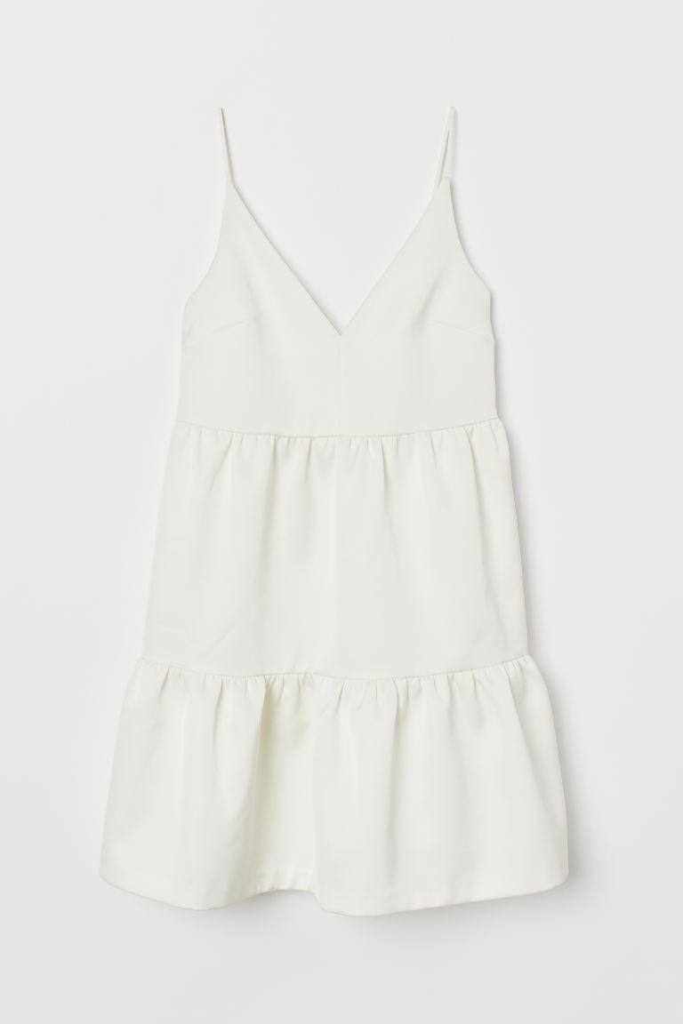 Knielanges Hochzeitskleid - Cremefarben - Ladies  H&M AT in 12