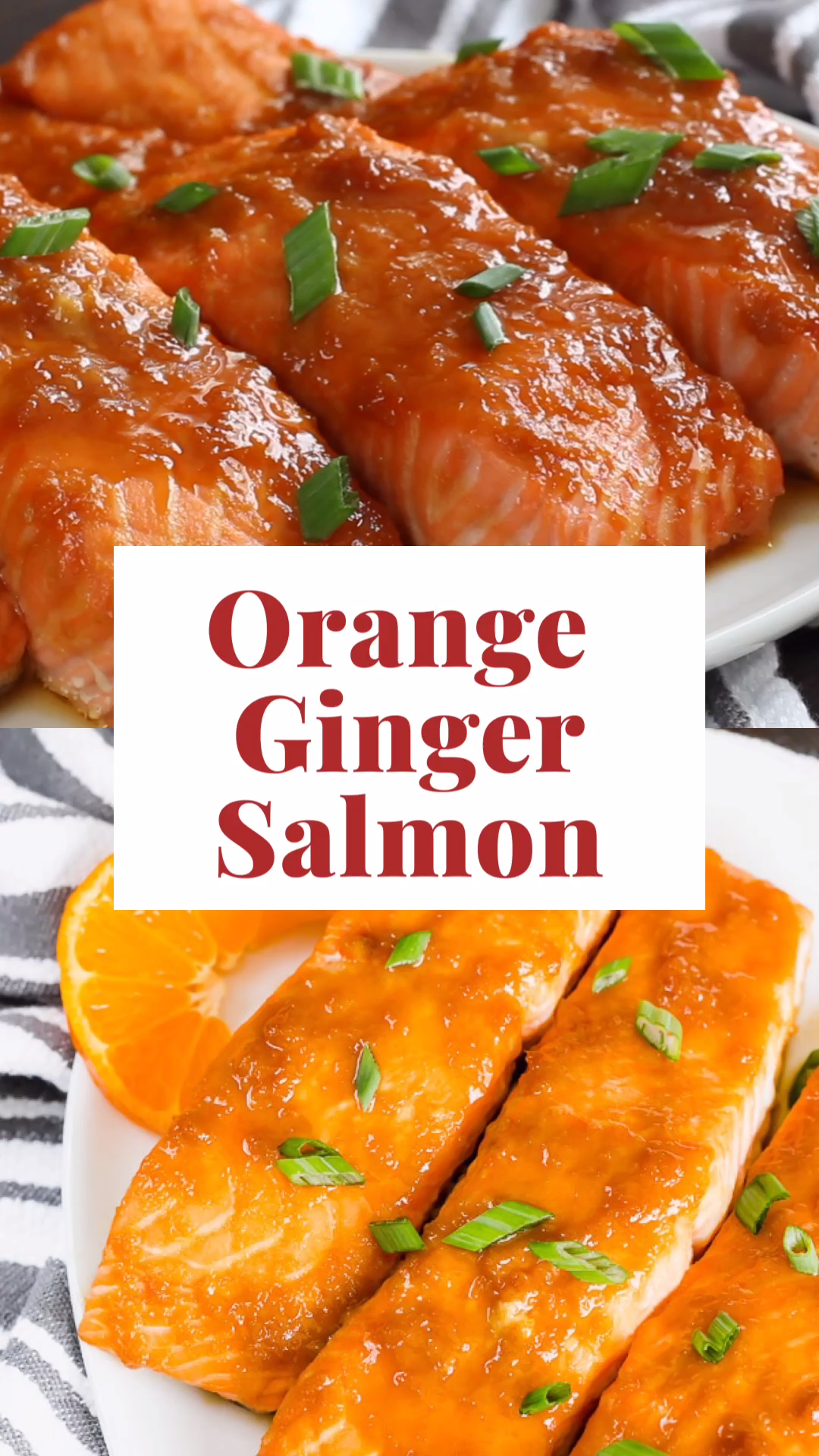 Baked Orange Ginger Salmon