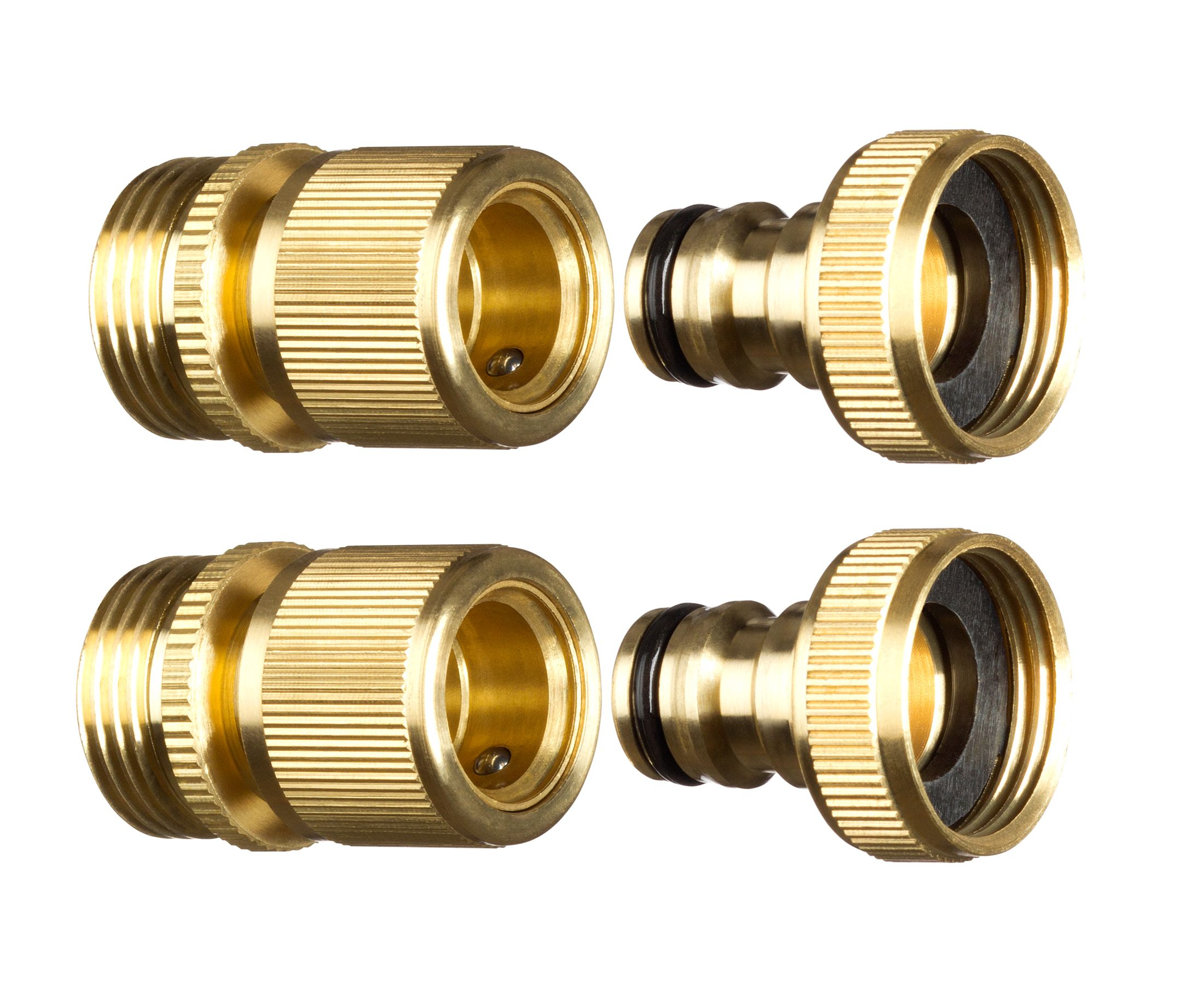 Gorilla Easy Connect 3 4 Npt Brass Quick Connect Garden Hose Fitting 2pc Set Male And Female