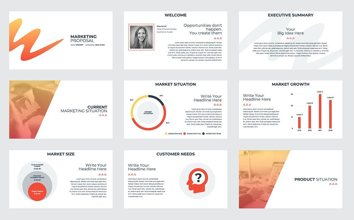 Marketing Proposal PowerPoint by CreativeSlides on