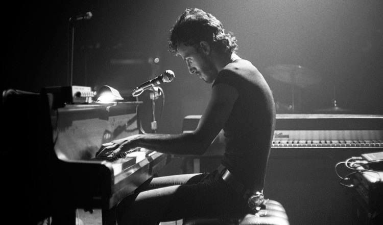 """""""I have seen rock and roll future, and its name is Bruce."""" Jon Landau  Bruce Springsteen,Harvard Square Theatre, Cambridge, 1974.  Ph by Barry schneier"""