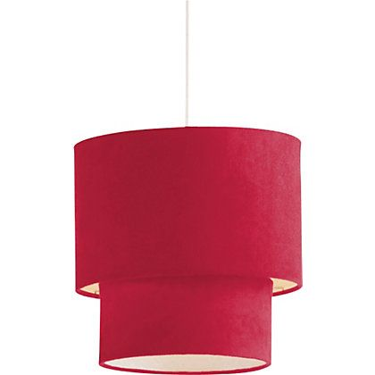 2 tier suede ceiling shade poppy red 097754 533 homebase 2 tier suede ceiling shade poppy red 097754 533 homebase aloadofball Gallery