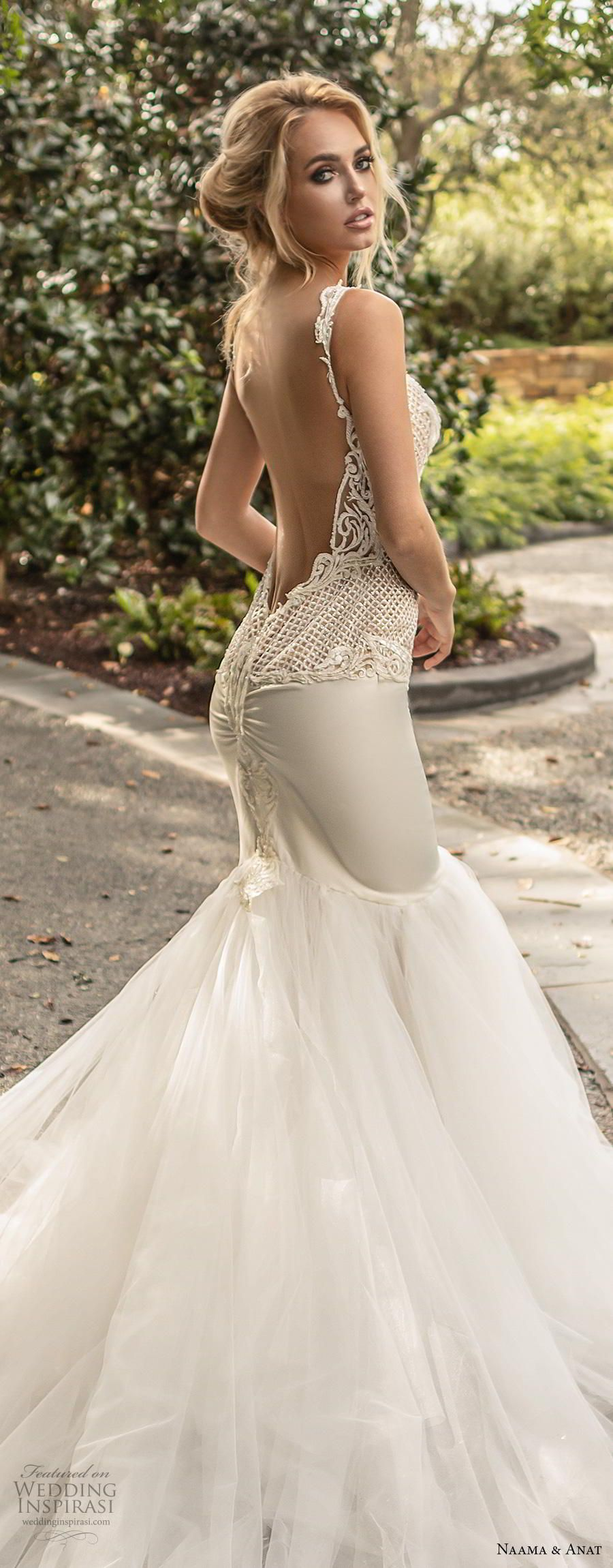Wedding dress high neck open back  Naama u Anat Couture Wedding Dresses Fall  in   My guilty