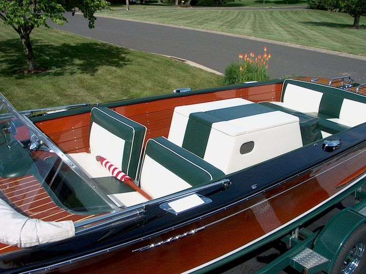 1963 century resorter wood hull with mahogany slats for Classic house vinyl sale