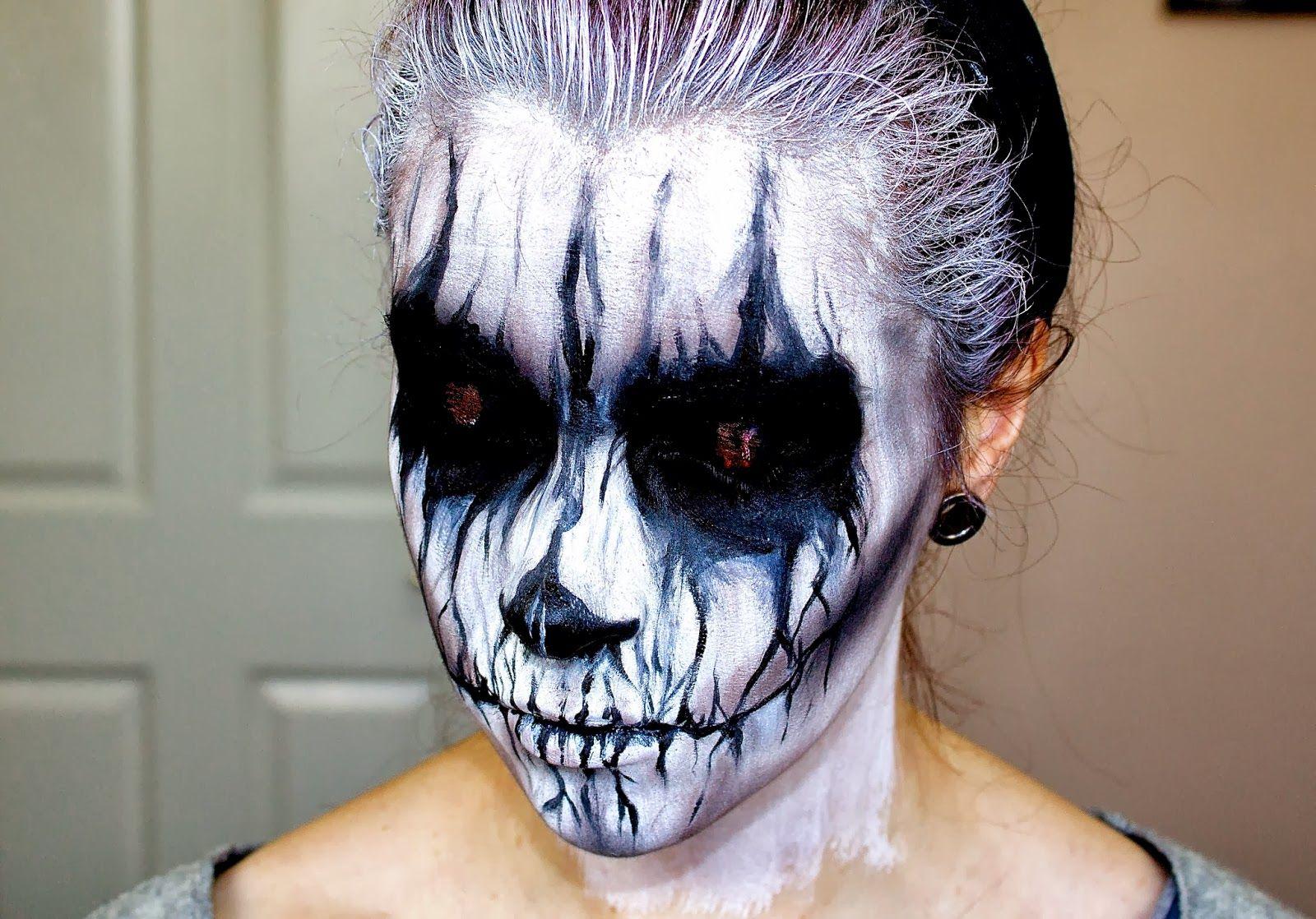 www.letzmakeupblog: evil demon; halloween makeup tutorial