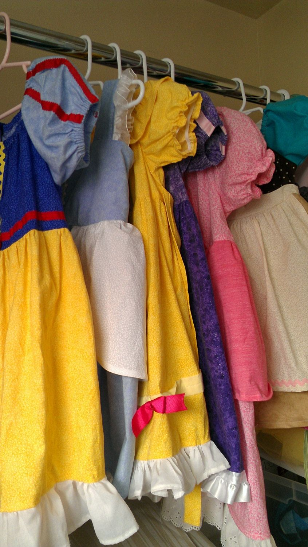 3 disney princess dresses for little girls dress up