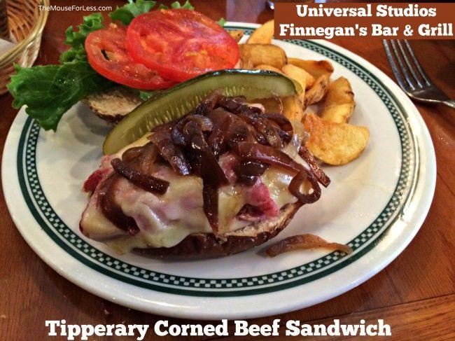 Finnegan S Bar And Grill Menu Universal Orlando Universal