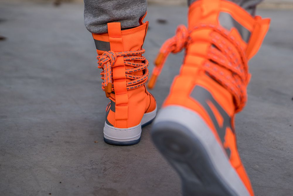 Latest Pickup Nike Sf Air Force 1 High Boot Total Orange With