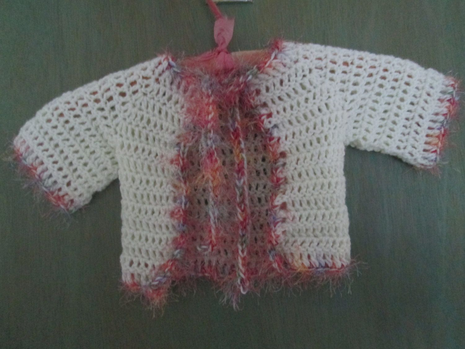 7b1bd875513a Baby Girl Sweater Crocheted by SuzannesStitches