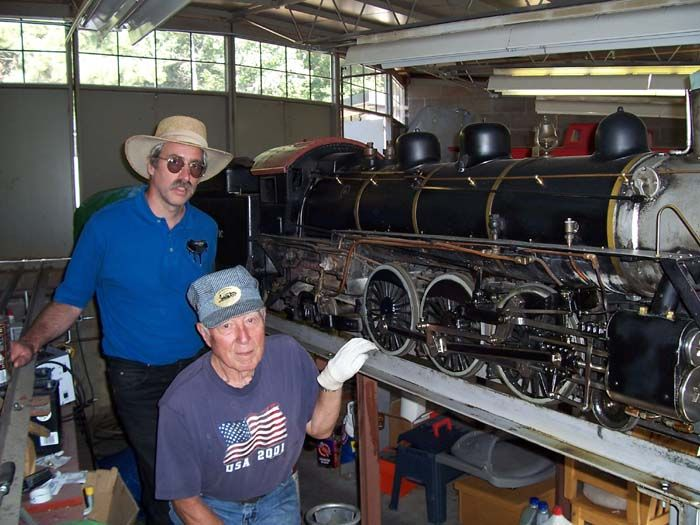 Live Steam Trains. Checking out one of the trains. Live ...