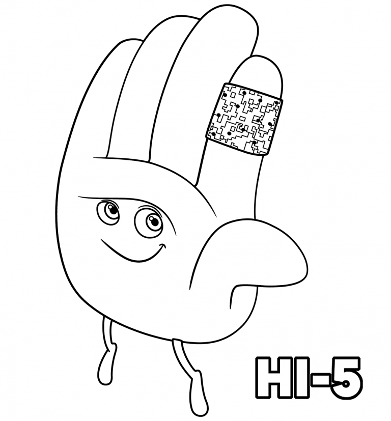 The Emoji Movie Hi 11 Coloring Pages | Coloring Pages | Pinterest ...
