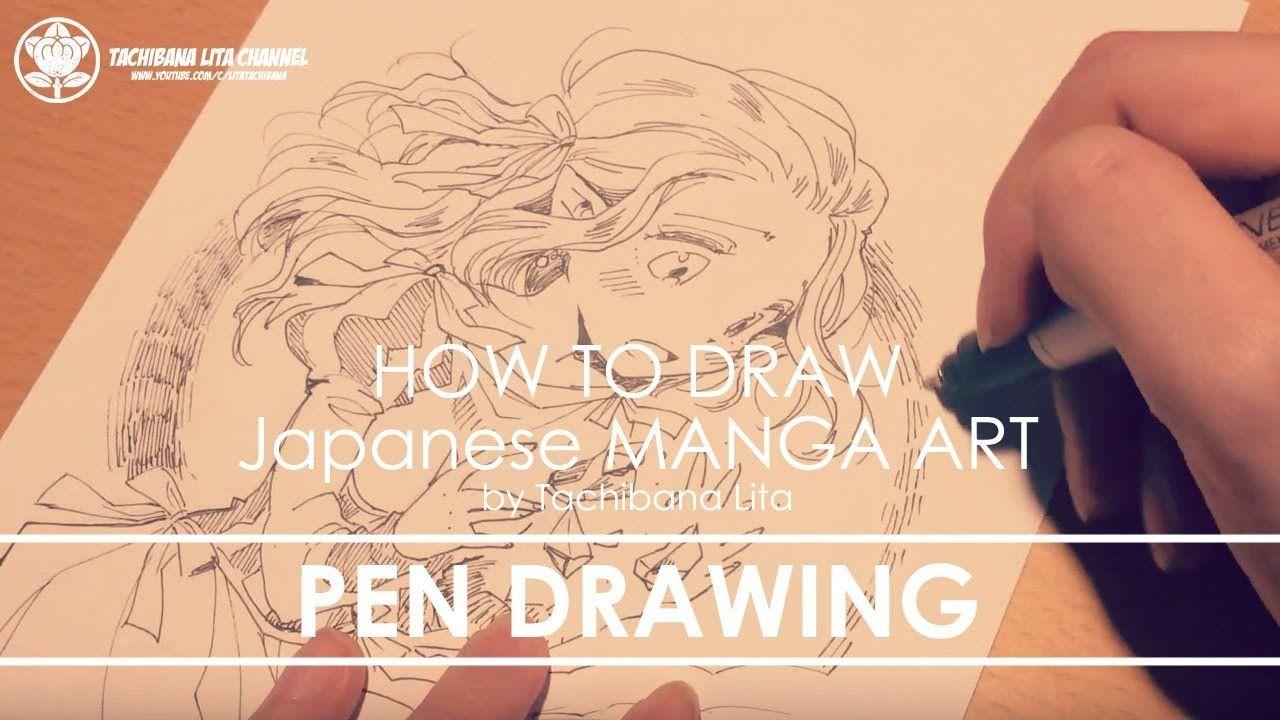 ✔ Pen drawing *Detail up #inktober2017   How to draw Manga Art 2017.10.12