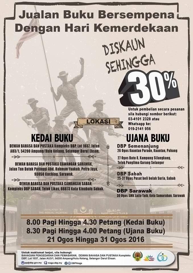 21-31 Aug 2016: DBP Merdeka Book Sale