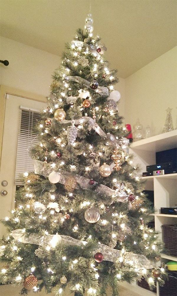 Most Beautiful Christmas Tree Decorations Ideas | Christmas tree, Gray and  Lights