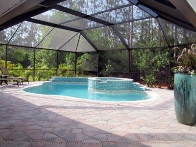 Naples House Rental: Two Master Suites, 2 Heated Pools+spa Beach Home  Private Comm, Walk To
