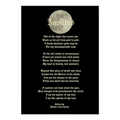 invictus victorian poem on image of the moon poster poem invictus victorian poem on image of the moon poster