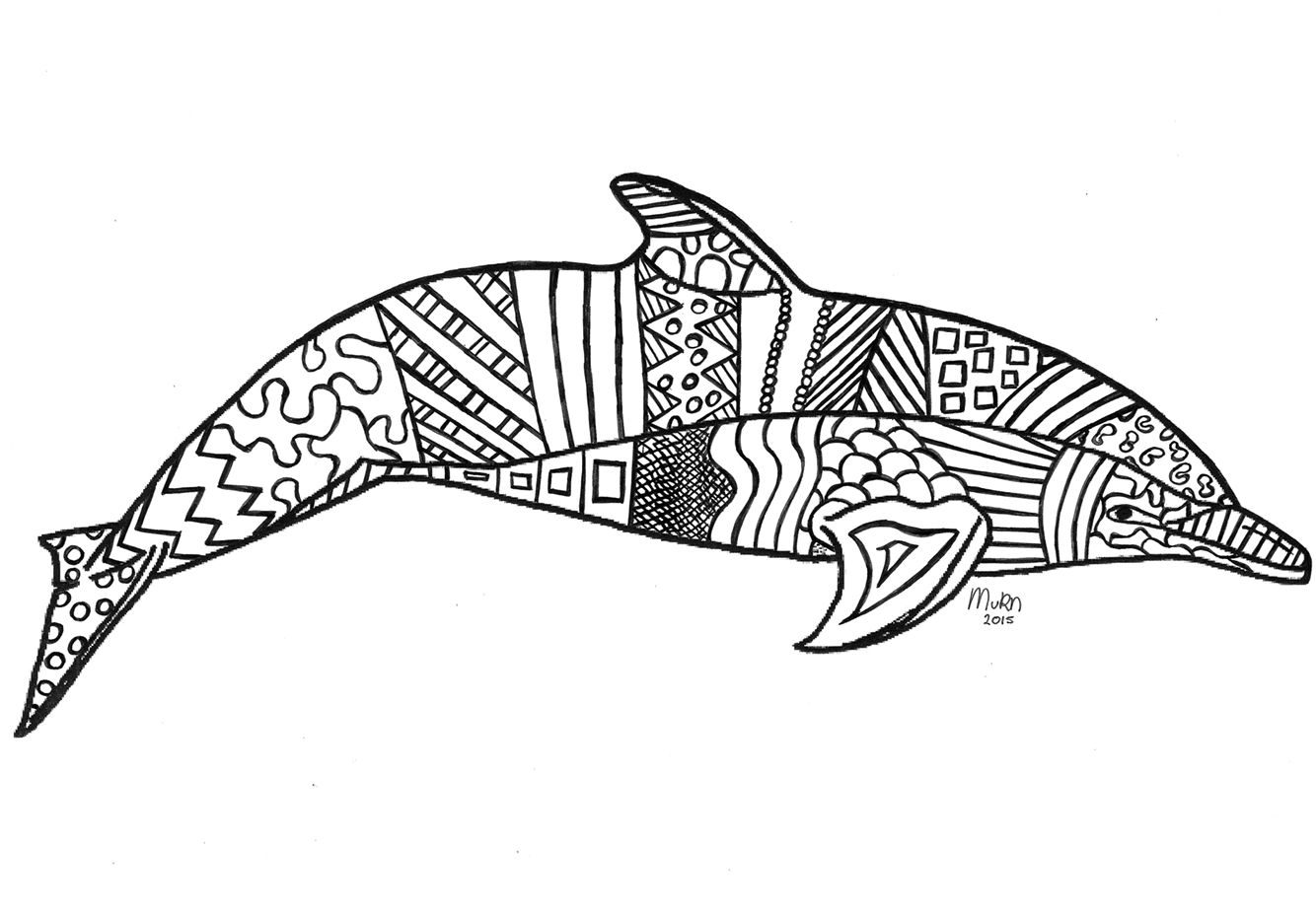 My selfmade dolphin zentangle art pinterest zentangle