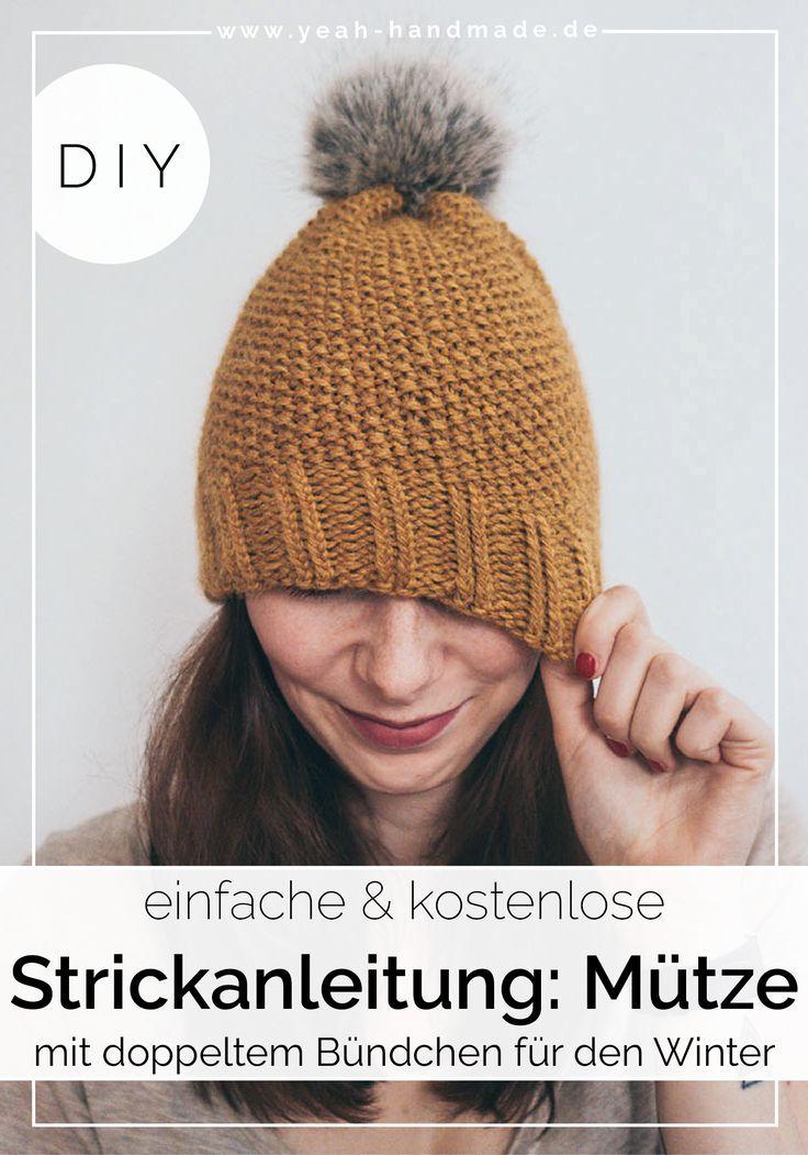 Photo of DIY Strickanleitung für eine Mütze mit doppeltem Bündchen